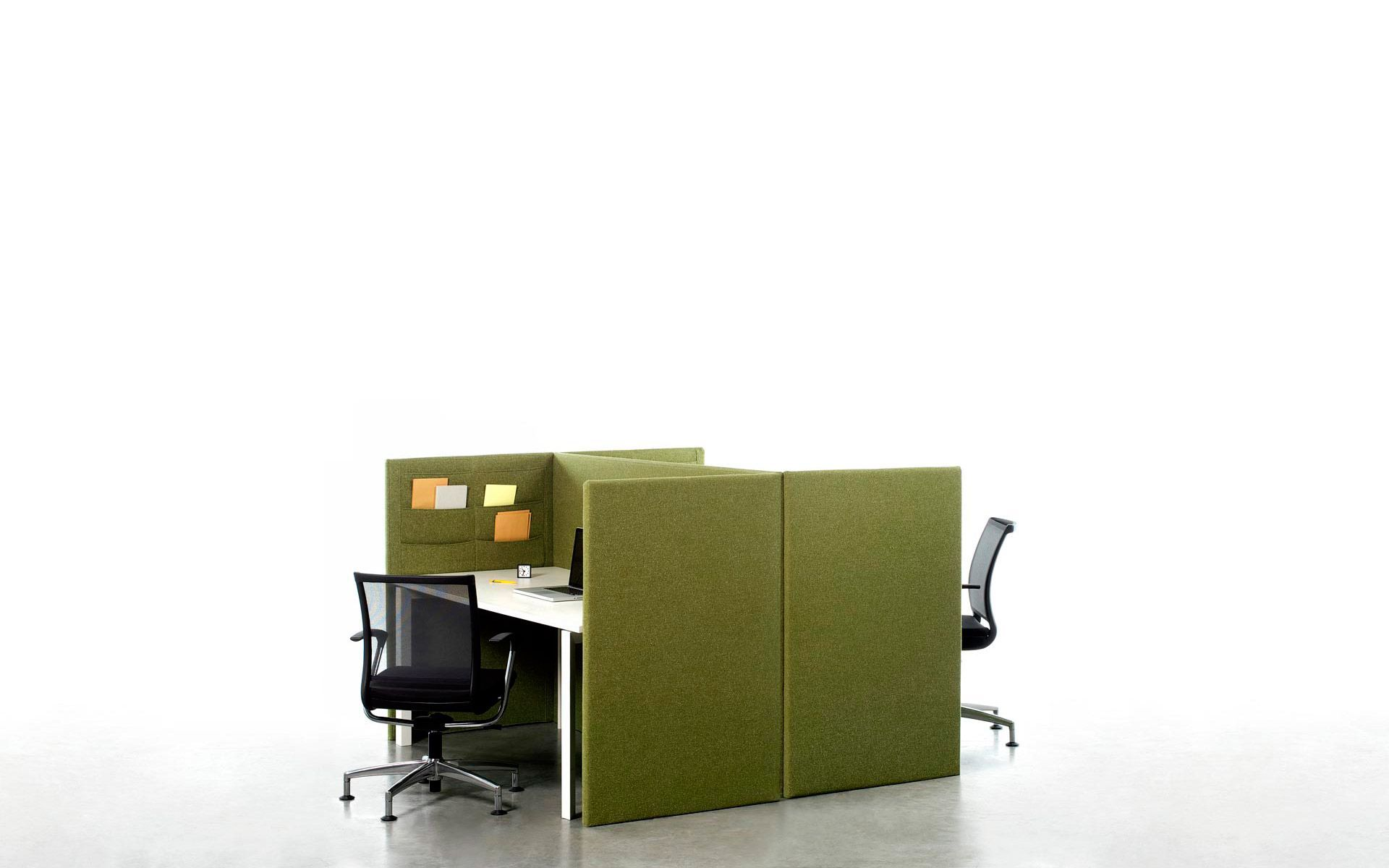 A flexible, practical, fun office partition concept