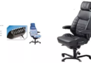 Comfortable office chair offers complete adjustable support.
